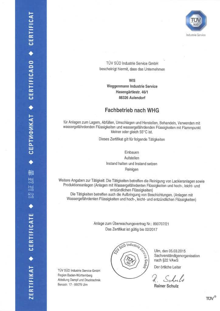 2017 Zertifikat Fachbetrieb
